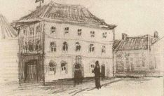 Building in Eindhoven (the Weigh-House), 1885, Vincent van Gogh Medium: pencil on paper