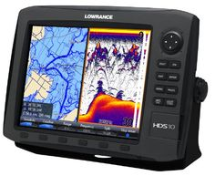 @>  Lowrance HDS-10 GEN2 Plotter/Sounder, with 104-inch LCD, Insight USA Cartography, and 50/200KHz Transducer