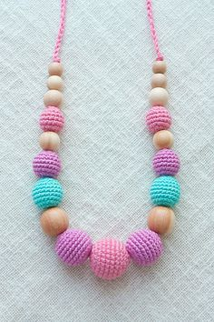 All natural Teething necklace/ Nursing от NecklacesForMommy