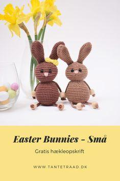 Easter Crochet, Knit Crochet, Easter Bunny, Babyshower, Crochet Projects, Have Fun, Dinosaur Stuffed Animal, Holidays, Knitting