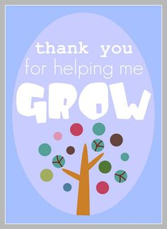 Thank You For Helping Me Grow AND Thank You Berry Much printables