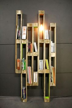 Creative Pallet Bookshelf | 99 Pallets