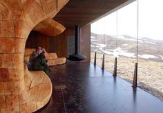 Snohetta refines local building traditions for the interior design of the pavilion, Photo: Klaas Van Ommeren, 2011