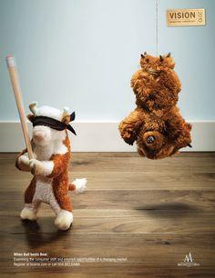 When Bull Beats Bear... stock market humor.