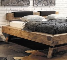 Hasena Bloc Stabil Inca Nakio Character Solid Oak Bed in a Vintage Finish – Decor – Wood Craft Rustic Bedroom Furniture, Contemporary Bedroom Furniture, Rustic Bedding, Bed Furniture, Boho Bedding, Furniture Layout, White Bedding, Oak Bed Frame, Wooden Bed Frames