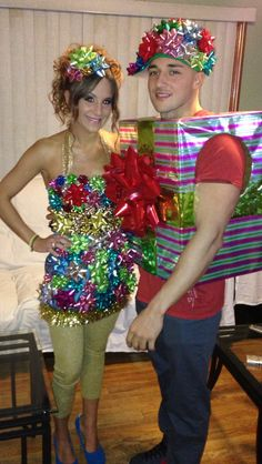 Christmas present party costumes!