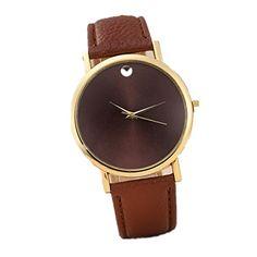 efc020756ff Genvivia Brand New 2017 Fashion watches Womens no number Retro Design  Leather Band Analog Alloy Quartz dress watch Wrist Watch