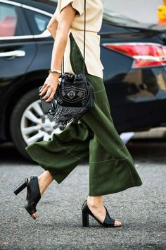 Wide-leg trousers are everywhere at New York Fashion Week.