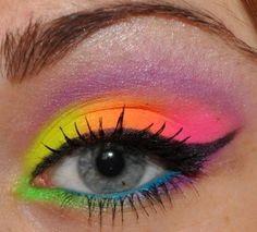 A look using the Sleek Acid pallet. fluo | Idea Gallery | Makeup Geek by GGGoSIAAA. WANT
