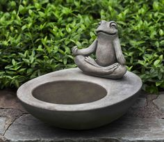 Zen Element Birdbath - Garden Fountains & Outdoor Decor