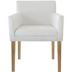 Rasusu white leather and teak chair from Weylandts Weylandts, Mid-century Modern, Contemporary, White Leather, Teak, Accent Chairs, Armchair, Dining Chairs, Mid Century