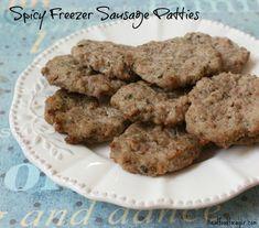 Homemade Spicy Freezer Sausage Patties (Paleo/Whole30, SCD, GAPS)