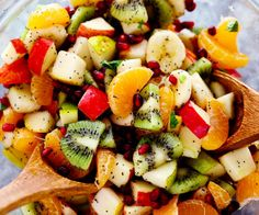 The Best Winter Fruit Salad is filled with clementines, kiwi, pears, apples, and pomegranate. It gets tossed in a delicious honey lime poppyseed dressing and you won't be able to get enough!  Fruit. I seriously can't get enough fruit. I have always loved having fruit in the house and my little girl loves fruit …