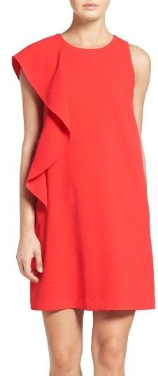 Women's Chelsea28 Asymmetrical Ruffle Shift Dress