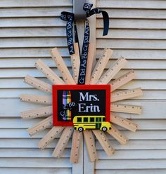 Ruler Wreath Teacher Wreath Teacher Gift by EllitonCrossing