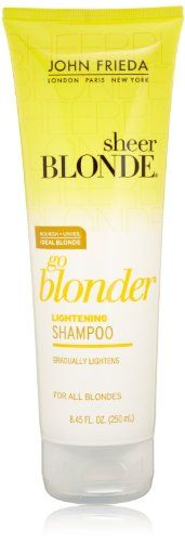 John Frieda Sheer Blonde Go Blonder Lightening Shampoo 845 Fluid Ounce Pack of 3 * Check out the image by visiting the link.