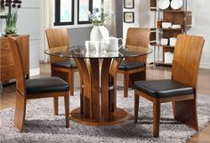 Walnut Dining Room Set  - JF601 by Jual Furnishings - Designed by Jual Furnishings to look stunning with its elegant curves and luxurious real wood veneer, the JF601 dining table stands out from the crowd.