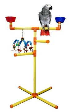 Large Floor-T Perch - Playgyms,Table Top Perches & Stands - PVC Items - Perches - BIRD TOY MAN parrot toys swings ladders parts