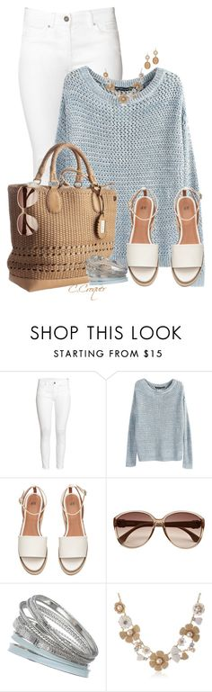 """Light Blue Pullover"" by ccroquer ❤ liked on Polyvore featuring H&M, Gucci, River Island, Dorothy Perkins, Kate Spade and Blu Bijoux"