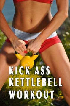 12 Kick-Ass Kettle Bell Exercises. Opt for a pair of light weights (6-10 pounds) until you can do the moves in perfect form, then go heavier. Great for cardio, strength, and flexibility training. Workout your abs, arms, back, butt, chest, core, legs and shoulders.
