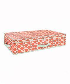 Look at this #zulilyfind! Orange & Mint Under the Bed Storage Bag by The MacBeth Collection #zulilyfinds