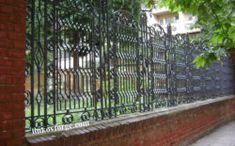 Restoration of wrought iron fence