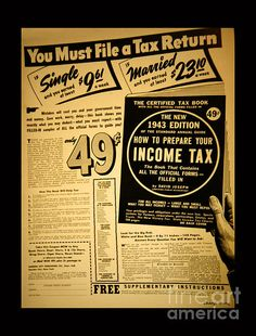 Take a look back at this vintage tax flyer from 1943