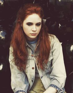 Karen Gillan.... I have been told I look like her. I have also been told I look like Zooey Deschanel....  I have tried dark Zooey hair and that looked fantastic on me so hopefully red hair will look just as good. I am going to try it!