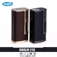 >> Click to Buy << 2016 Original Sigelei 213 Leather &Zinc Alloy vape box mod 213w TC Box Mod OLED Screen 10w-213W 2*18650 Batteries USB   #Affiliate
