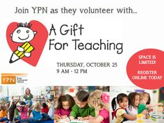 Join YPN as they volunteer with A Gift for Teaching to help to improve public education by transferring our community's surplus materials and resources free to teachers for their students in need.