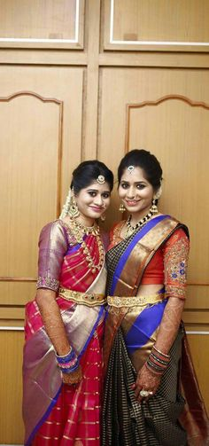 South Indian Sarees, South Indian Bride, Indian Bridal, Bridal Silk Saree, Saree Wedding, Indian Dresses, Indian Outfits, Saree Collection, Trendy Collection
