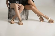 """Exclusive leather sandals meandros styled """"Jacinta"""". Chic design for Mom & Daughter outfit,matching sandals"""
