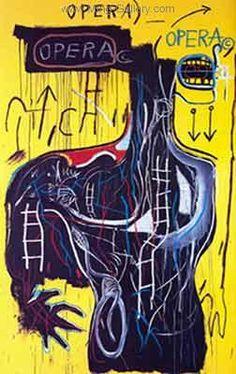 Jean-Michel Basquiat - Underground Art - Urban Art - 1981 - Neo-Expressionism - Anybody Speaking Words, 1982 Jean Basquiat, Jean Michel Basquiat Art, Basquiat Paintings, Guggenheim Bilbao, Andy Warhol, Neo Expressionism, Robert Rauschenberg, Art Brut, Outsider Art
