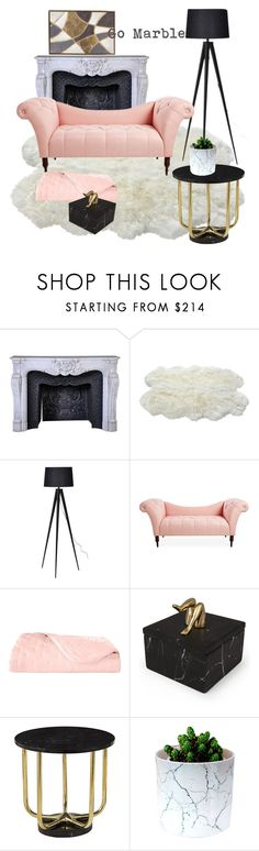 """""""Go Marble"""" by teresa-ramil ❤ liked on Polyvore featuring Yves Delorme and Kelly Wearstler"""