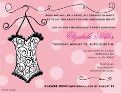 7a5daead978 Lingerie Bridal Shower Invitations