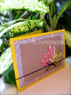 Recycled Newspaper Card