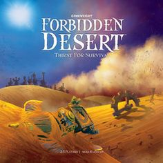Forbidden Desert is a fantastic cooperative family board game! It appeals to players of all ages with engaging game play that has everyone working together to find buried flying machine parts and escape the desert. Hit Games, News Games, Games To Play, Cooperative Games, Family Board Games, Thing 1, Games For Teens, Tabletop Games, Board Games