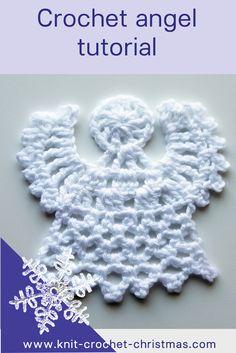 Easy crochet angel pattern, videotutorial