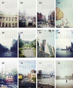 calendari amb fotografies de NY