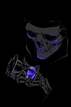 Tribute to Terry Pratchett, by shibara Whats Wallpaper, Dark Wallpaper, Galaxy Wallpaper, Foto Fantasy, Dark Fantasy Art, Skull Wallpaper Iphone, Skull Pictures, Skull Artwork, Skeleton Art