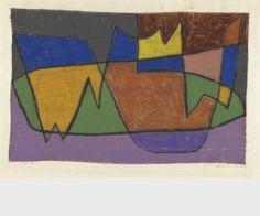 Paul Klee  'Flower Garden in the Park of V.'   1936  Pastel on cotton on cardboard  30.3 x 46.6 cm