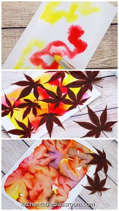Leaf Printing- Stunning Watercolor Botanical Prints - The Kitchen Table Classroo. Leaf Printing- Stunning Watercolor Botanical Prints - The Kitchen Table Classroom - # Kids Crafts, Fall Crafts For Kids, Arts And Crafts, Art Crafts, Summer Crafts, Fall Leaves Crafts, Preschool Fall Crafts, Autumn Art Ideas For Kids, Fall Crafts For Toddlers