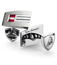 Lamborghini Corsa Titanium Cufflinks - SKU: TCL005000
