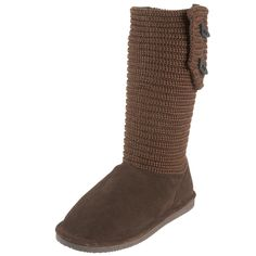 BEARPAW Women's Cable Knit Boot,Chocolate,7 M US ** You can get more details here : Bearpaw boots