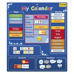My First Magnetic Calendars, Children and Toddler Toys, Gifts and Toys