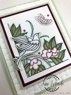 For this week's Festive Friday challenge, Ann created a watercolored card using one of Stampin' Up!'s new sets from the 2018-2019 Annual Catalog named Serene Garden.