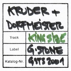 King Size | Kruder & Dorfmeister | King Size | Added to antibiOTTICs SUPRACHILL - posting Ambient | Downbeat | Chill Out #chill #spotify Chill Out Music, Acid Jazz, Trip Hop, European Tour, Album Releases, Electronic Music, King Size, Songs, Label