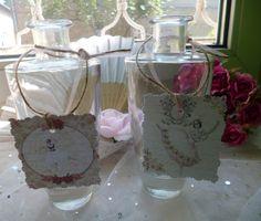 Hochzeitsdeko - Zwei kleine Vasen Hochzeit Taufe - ein Designerstück von Rosettas-Laden bei DaWanda