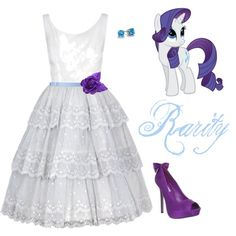 Rarity inspired outfit:I  love this outfit it's totes cute!<<< totes? I know it means totally but totes?