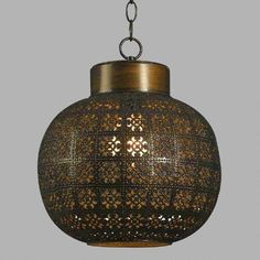 One of my favorite discoveries at WorldMarket.com: Aged Bronze Pendant Lamp